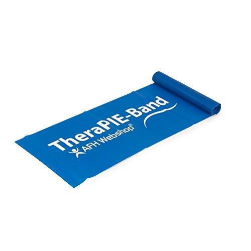 AFH-Webshop Therapie Band | Übungsband | Fitnessband | Trainingsband | Verschiedene Widerstände und Längen (leicht (blau), 2.0)