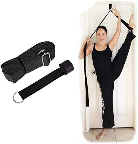 Hossom Cinghia Yoga, Yoga Strap con Ancoraggio per Porte, Cinturino per Esercizi in Cotone Resistente con Fibbia a D per Stiramento Allenamento Flessibilità, Ideale per Casa o Palestra Foot Stretch
