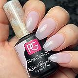 Rubber Base Cover Frosted Pink Base con Color Incorporado Rosa Glaseado LED UV