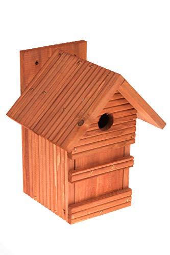 N/A Nistkasten Natur für Blaumeisen & kleine Meisenarten aus Holz -wetterfest, Vogelhaus für Meisen, Nisthilfe mit 28 mm Einflugloch Vogelhaus Meisenkasten Nisthöhle (Erle)