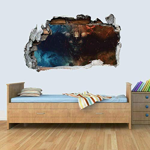 3D Wall Stickers Vinyl Art Stickers 3D Smashed Poster Wall Illustration Children'S Room