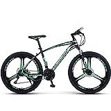 PBTRM Bicicletta MTB Bici Mountain Bike 26 Pollici, Deragliatore Posteriore 27 velocità, Freni Disco Anteriori E Posteriori, più Colori, Altezza Adatta 160-185 Cm,Verde