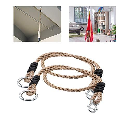 HLJS 2 cuerdas ajustables para columpio, cuerda de extensión para columpio, cuerda de seguridad para hamacas, accesorio perfecto para columpios, carga máxima de 300 kg