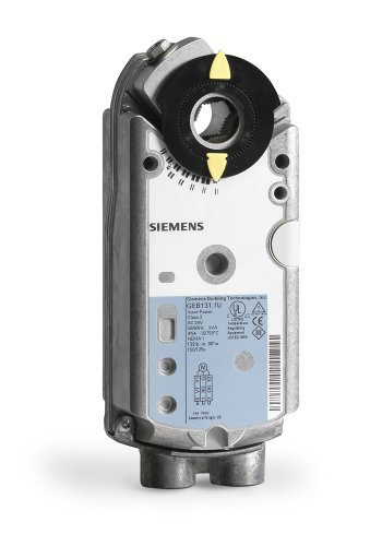 Siemens GEB131.1U Non-Spring Return Electronic Damper Actuator, 3-Position, 24 Vac