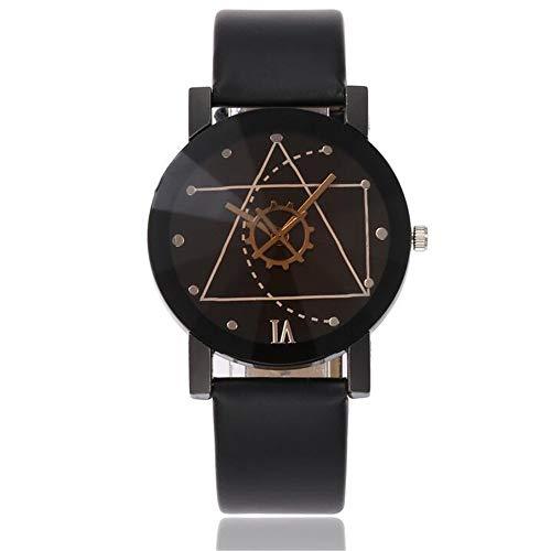 ZSDGY Creative Geometric Gear Literally Ladies Watch, Reloj de Cuarzo de Estudiante de Moda C
