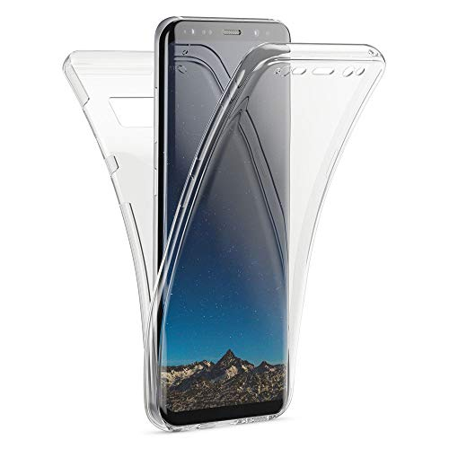 Kaliroo Handyhülle 360 Grad kompatibel mit Samsung Galaxy S8, Ultra-Slim Full-Body Hülle R&um Hülle Silikon Schutzhülle, Dünne Handy-Tasche Phone Cover Komplett-Schutz Schale TPU Etui - Transparent