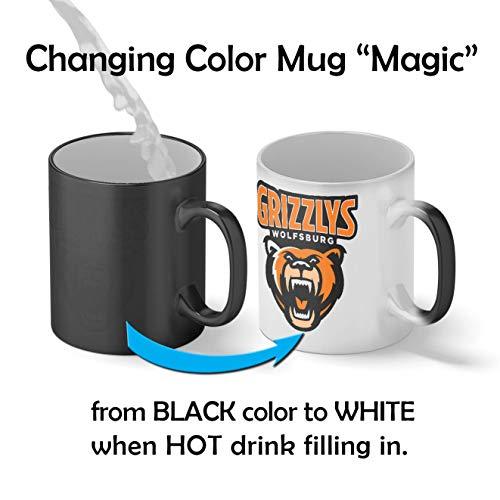 Grizzlys Wolfsburg Eishockey Mannschaft Teamgeschenk Magic Becher Mug| Lustige Neuheit Magic Becher für Kaffee Tee 312ml