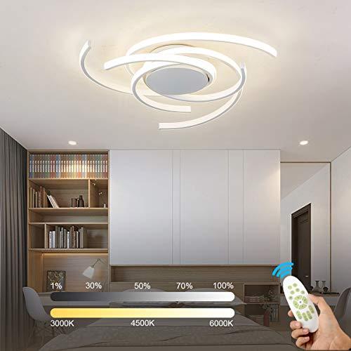 LED Deckenleuchte, 36W 3200lm Moderne Rund LED Deckenlampe mit Fernbedienung Dimmbar, Ø56*10CM Deckenleuchte für Küche, Wohnzimmer, Schlafzimmer, Flur Babyzimmer Kinderzimmer [Energieklasse A+]