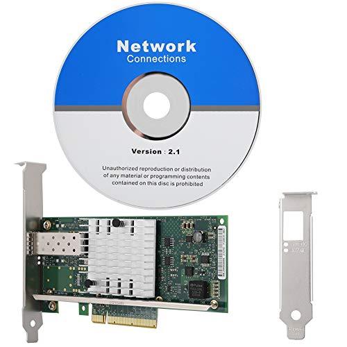 PCIE-Netzwerkkarte, Single Port 10-Gbit/s-SFP-Netzwerkkarte, für Intel X520-SR1 10G 82599DE SFP + Ethernet-Konverter-Netzwerkadapter E10G41BFSR Für Büro, Internetcafé, Überwachung, Datenserver