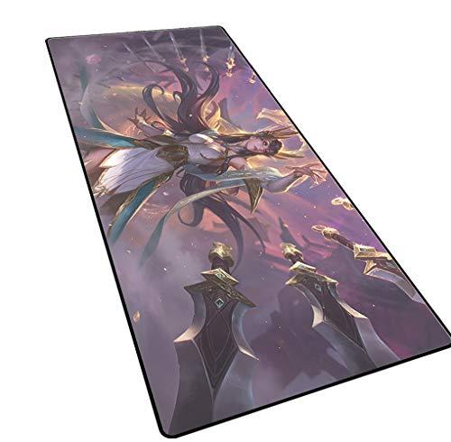 1STSPT Gaming Maus Pad 900x400x3mm XL/XXL Große Größe Plain Erweiterte Anti-Slip Spiel Mäuse Pad Schreibtisch Matte Kda Mädchen Team-7