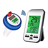 yowosmart Professional Wireless Pool Thermometer New Version Floating Solar Powered Thermometer for...