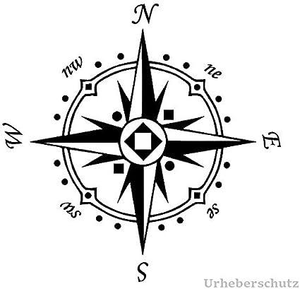 Generic Kompass Aufkleber In 20x20cm Oder 30x30cm Windrose Aufkleber Für Caravan Wohnmobil Wohnwagen Auto Oder Als Wand Tattoo 94 5 20x20cm Blau Glanz Garten