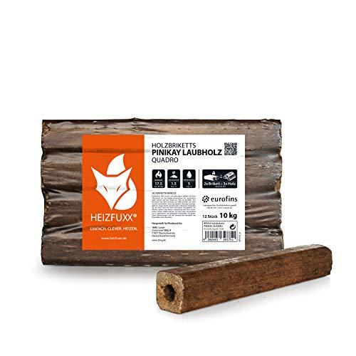 HEIZFUXX Holzbriketts Laubholz Pinikay Quadro Kamin Ofen Brenn Holz Heiz Brikett 10kg x 3 Gebinde 30kg / 1 Karton Paligo