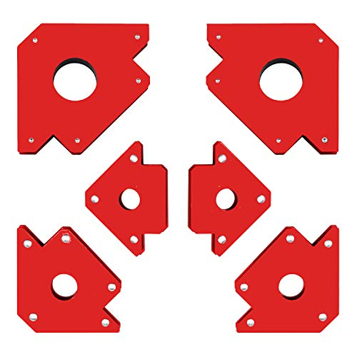 6 Pieces Welding Magnet,Arrow Magnetic Welding Holder Set 45, 90, 135 Degree Powerful Welding Positioner Welding Auxiliary Tools Metal Working Tools for Megnetic Workshop Soldering