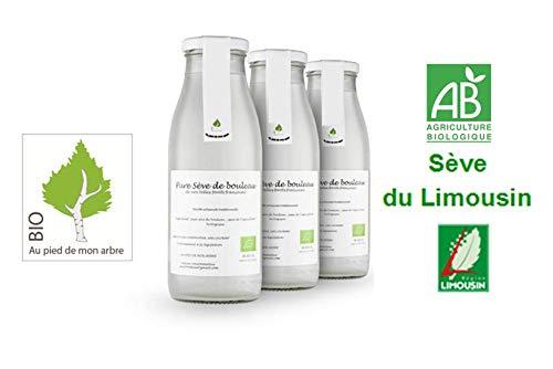 SEVE DE BOULEAU Bio 6 bouteilles à 7,80 € l'unité qualité du Limousin