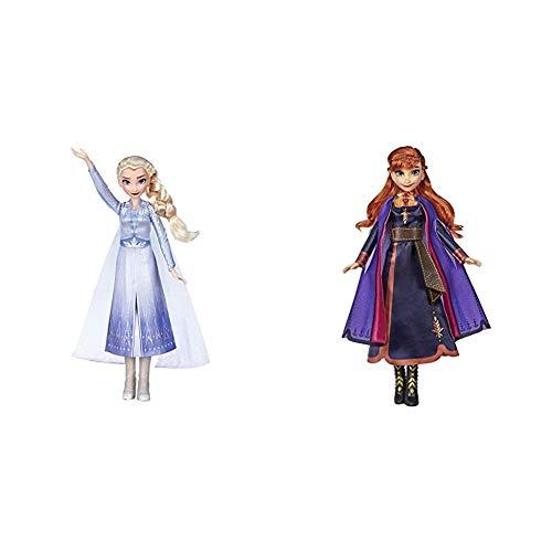 Frozen 2 -Muñeca Cantarina Elsa(HasbroE6852TG0) + Muñeca Cantarina Anna(HasbroE6853TG0)