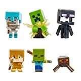 Minecraft Pack 6 mini figuras de juguete, regalo para niños +6 años (Mattel GXT26)