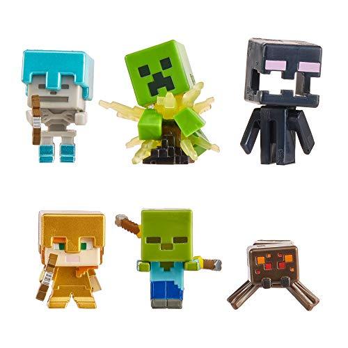 Minecraft GXT26 - Nightfall Figuren 6er-Pack, Minifiguren basierend auf Videospiel, für Kinder ab 6 Jahren