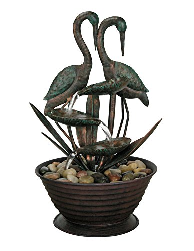 Nature's Garden Birds Metal Fountain
