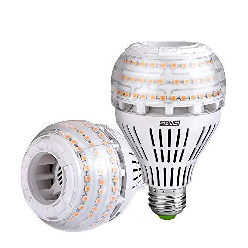 Lampadine Led E27 Luce Calda, SANSI 27W Lampadina Dimmerabile 3000K Super Luminoso 4000lm 250W Lampada per Soggiorno, Ufficio Pacco da 2