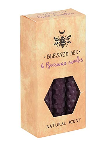 Blessed Bee Beeswax Spell Prosperity & Overcoming Obstacles Candle Purple 5x11cm