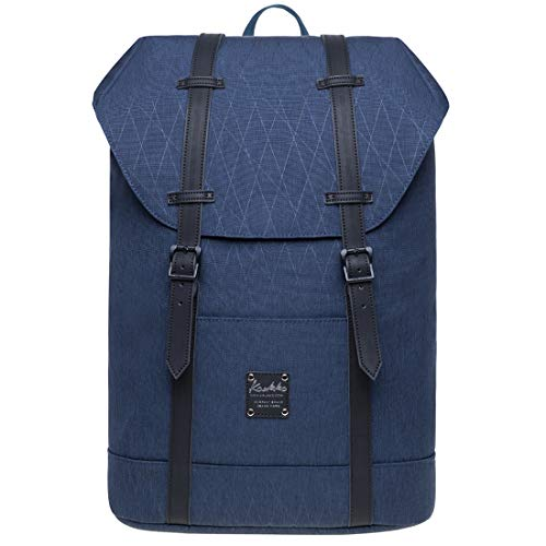 KAUKKO Unisex Rucksack Lässiger Schulrucksack für 12 Zoll Laptop 29 * 15 * 41 cm, 17.8 L (Blau JNL-EP6-15-12)