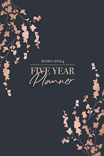 Five Year Planner 2020-2024: Monthly Planner 2020 - 2024 and Calendar - Planner, notebook and journal for women and men - Pocket Planner for 5 Year