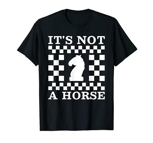 No es un caballo, es ajedrez divertido. Camiseta