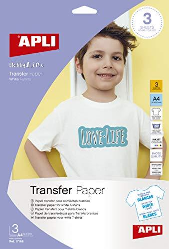 Apli 17168 - Papel para transfer con 3 hojas