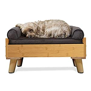 Furhaven Pet – Plush Sofa Orthopedic Dog Bed, L Shaped Chaise Dog Bed, Ergonomic Contour Cradle Lounger, Calming Donut Dog Bed, and More for Dogs and Cats – Multiple Sizes, Styles, and Colors