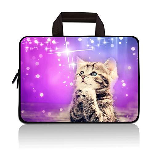 14 14.1' 14.2' 15' 15.4' 15.6' inch Inch Laptop Sleeve Case Protective Bag with Outside Handle,Ultrabook Notebook Carrying Case Handbag Compatible With Dell Toshiba HP Chromebook