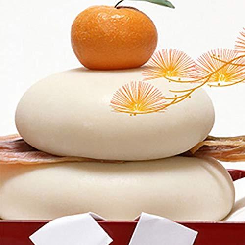 鏡餅 2kg(一升)無添加 防腐剤不使用 手作り 葉付きみかん付 かがみもち 福岡県産