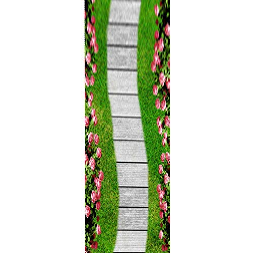 Long Rugs for Hallway Stair Carpet Large Rugs for Living Room Christmas Door Mats Non-Slip Long Runner Carpet Rugs for Kitchen/Stairs (Size : 80×500cm/2'8'×16'5')