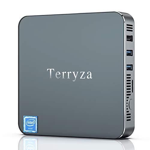 Mini PC Windows 10 Pro 8GB RAM/128GB mSATA SSD Intel Celeron N3350 Mini Desktop PC, 2.4/5G Dual WiFi,Gigabit Ethernet, 4K HD, 2 x HDMI Ports Support Dual Display, BT 4.2