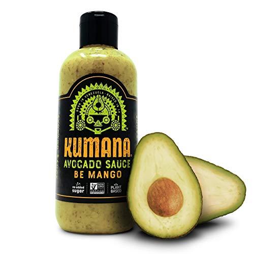 Kumana Avocado Sauce, Mango Jalapeño. A Keto Friendly Hot Sauce with Avocado, Mango and Jalapeño Chili Peppers. Keto and Paleo. Gluten Free, No Added Sugar and Low Carb. 13.1 Ounce Bottle.
