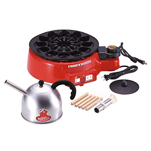 AUTOMATIC ELECTRIC JAPANESE TAKOYAKI GRILL PAN 12 HOLES 100 V OCTOPUS BALLS [JAPAN] by Sugiyama