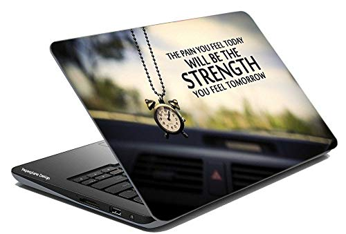 Paper Plane Design PPD Combo of Laptop Skin Cover, Skin Stickers for 14 inch to 17 inch Laptop All Models with Hard Disk Skin