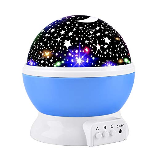 Elmchee Star Night Light for Kids, Universe Night Light Projection Lamp, Romantic Star Birthday Projector Lamp for Bedroom