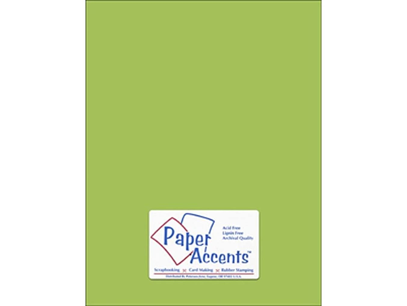 Accent Design Paper Accents Cdstk Smooth 8.5x11 80# Gecko Green