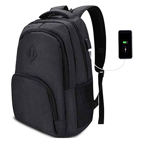 HONGER Laptop Backpack Slim Water Resistant Computer Backpack with USB Charging Port, Fits 16 Inch Laptop Notebook Business Travel Backpack College Schoolbag Casual Daypack,A