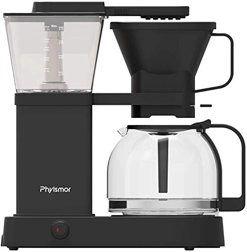 Drip Coffee Maker, 2-8 Cup Pour Over Coffee Brewer with Glass Carafe, Strength Control and High Temperature,Black