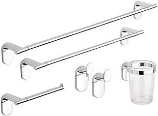 Metaform - Juego Completo de Accesorios para el baño - Línea Zero Cromo - Juego Compuesto por 5Piezas Fabricadas en Acero Cromado y plástico ABS (acrilonitrilo butadieno estireno)