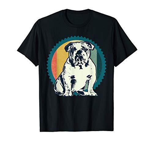 Vintage Englische Bulldogge T-Shirt Geschenk Idee