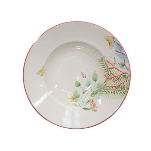 Faïencerie de Niderviller ~ Assiette Creuse Fleur de Corail Ø22,5cm faïence - Lot de 4