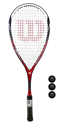 Wilson CS Muscle Squash racket + 3Squash-ballen