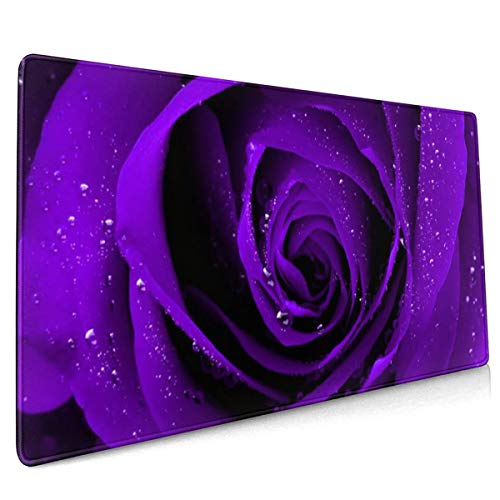 Purple Gaming Mouse pad Rose Flower