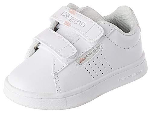 Kappa TCHOURI Velcro Inf, Scarpe da Ginnastica Unisex-Bambini, Bianco/Gris Plata, 26 EU