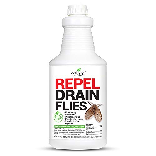 Covington Drain Fly Killer, Natural Fruit Fly Treatment, Eliminates Odor and Drain Flies for Kitchen and Bathroom Sinks, Say Bye to Pesky Drain Flies, Fruit Fly Killer, Odor Eliminating