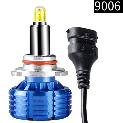 9006 ampoules de phares LED, 8000LM (2x4000LM) 80W (2x40W) 6000K, ensembles d'antibrouillards pour puces DOB, bleu froid, 2PC