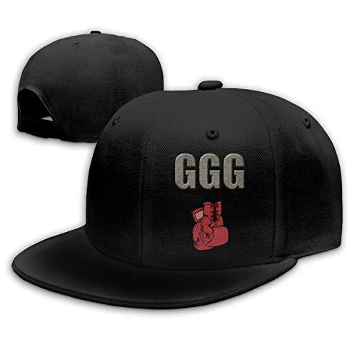 DIALOBE GGG Boxing Gloves Baseball Cap Flat Hat Adult Snapback Cap Black